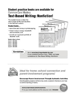 Text Based Writing: Nonfiction, Grade 3