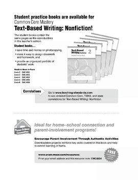 Text Based Writing: Nonfiction, Grade 4
