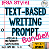 Text-Based Writing Prompt Bundle (FSA Style Opinion and Informative)