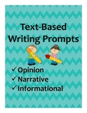 Text-Based Writing Prompts (Multiple Genres) Plus Sorting Activity