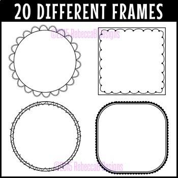 Text Box Frames Clip Art (Set 2)