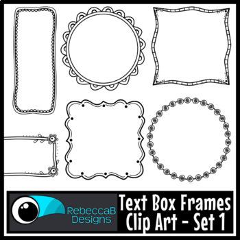 Text Box Frames Clip Art (Set 1)