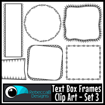 Text Box Frames Clip Art Set 3