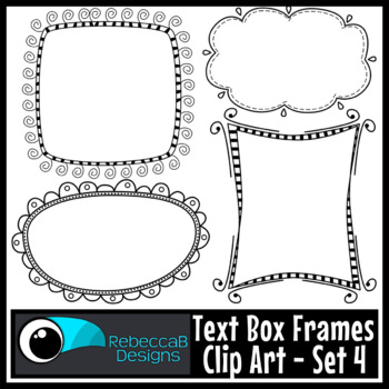 Text Box Frames Clip Art Set 4