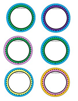 Text Circle Frames