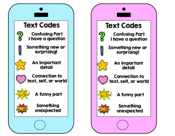 Text Codes for Reader's Response