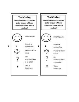 Text Coding Bookmark