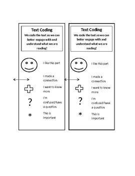 Text Coding Bookmark