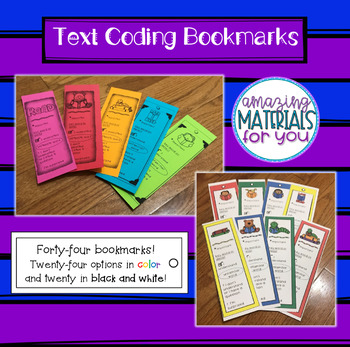 Text Coding Bookmarks
