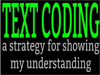 Text Coding Set: PowerPoint, Worksheet, and Bookmarks