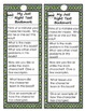 Text Complexity Bookmarks- Leveled Reading Comp Questions