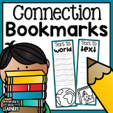 Connection Bookmarks for Reading - Text to Self, Text, and World