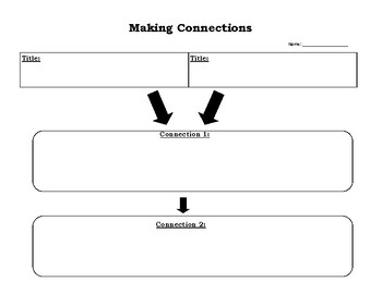 Text Connection Graphic Organizer