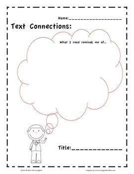 Text-to-Self Connections: Graphic Organizers