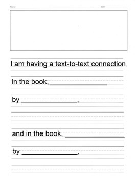 Text Connection Writing Prompt Paper