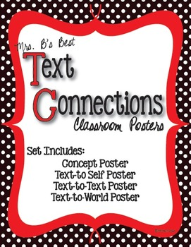 Text Connections Classroom Posters in Black and White Polk