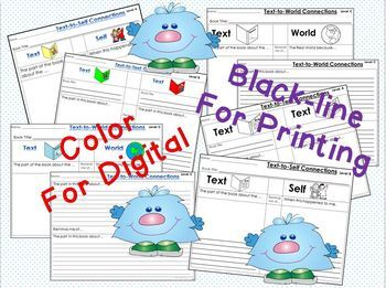 GOOGLE DRIVE Text Connections Differentiated plus Printables
