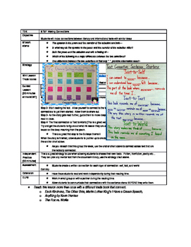 Text Connections-Lesson Plan
