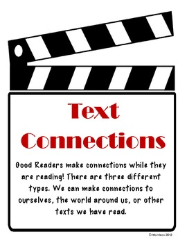 Text Connections Poster Set: Movie Theme!