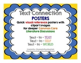 Text Connections Posters - Common Core Literature Reading Strategies