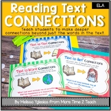 Reading Text Connections Posters & Activity | Reading Response