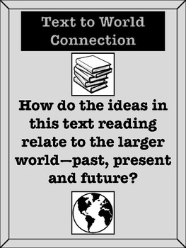 Text Connections Printable Posters