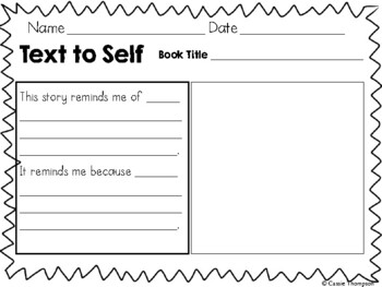 Text Connections Printables