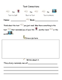 Text Connections Reading Response Activity