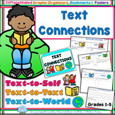 Text Connections ELA Graphic Organizers Bookmarks Posters Gr 1-5 BACK TO SCHOOL