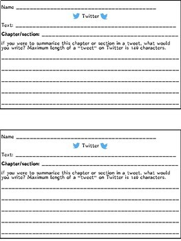 Text Connections Using Twitter