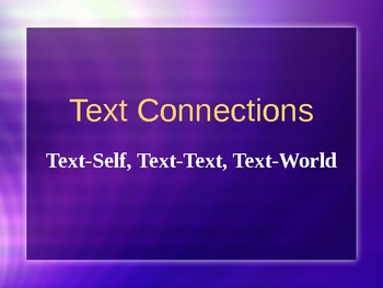 Text Connections and Text Features