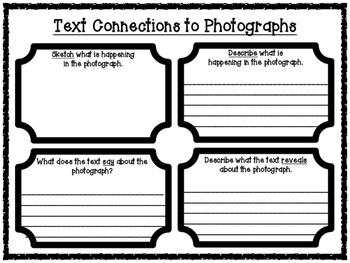 Text Connections to Illustrations and Photographs