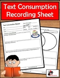 Text Consumption Daily Reading - or Viewing - Recording Sheet