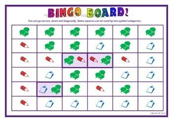 Text Conventions Bingo