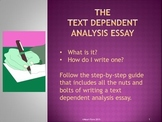 Text Dependent Analysis Essay