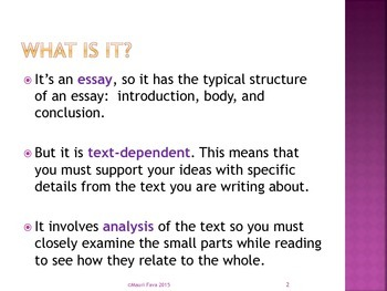 informational text essay