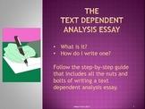 Text Dependent Analysis Essay