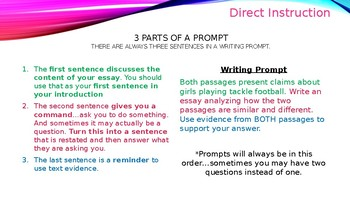 Text Dependent Analysis Essay Prompts