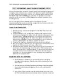 Text Dependent Analysis Independent Study