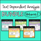 Text Dependent Analysis - TDA - Bundle of Passages, Prompts and Questions - V1