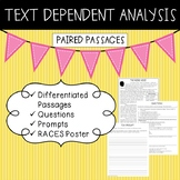 Text Dependent Analysis - TDA - Paired Passages, Prompts and Questions