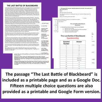 Text Dependent Analysis (TDA) Practice Packet~ Featuring a Nonfiction Passage