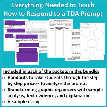 Text Dependent Analysis (TDA) Practice Packets ~ Bundle