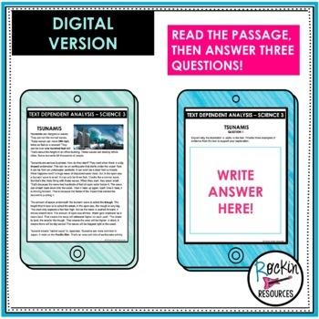 Text Dependent Analysis Text Evidence Writing