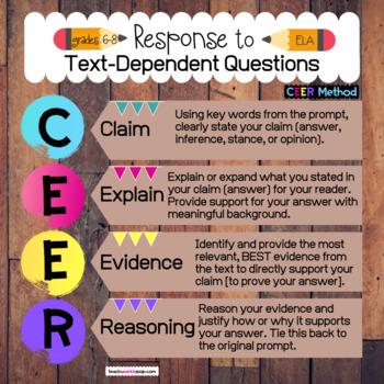Text-Dependent Analysis Using CEER Method