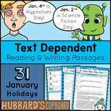 31 January Text Dependent Passages - Evidence-Based - Bell Work - Bell Ringers