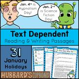 31 January Reading Passages & Writing- January Morning Work - January Activities