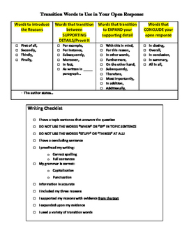 Text Dependent - Open Response Graphic Organizer *Editable*