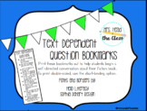 Text Dependent Question Bookmarks