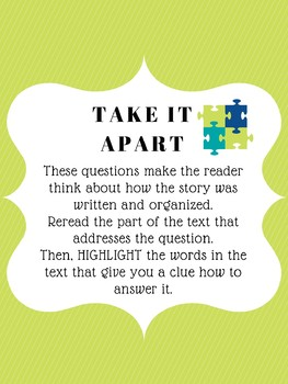 Text Dependent Question Poster Packet
